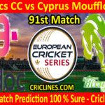 Today Match Prediction-Amdocs CC vs Cyprus Moufflons CC-ECS T10 Cyprus Series-91st Match-Who Will Win