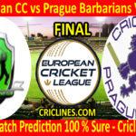 Today Match Prediction-Bohemian CC vs Prague Barbarians Vandals-ECN T10 League-Final-Who Will Win