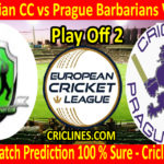 Today Match Prediction-Bohemian CC vs Prague Barbarians Vandals-ECN T10 League-Play-Off 2-Who Will Win