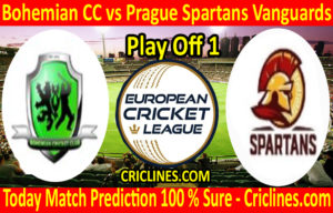 Today Match Prediction-Bohemian CC vs Prague Spartans Vanguards-ECN T10 League-Play Off 1-Who Will Win