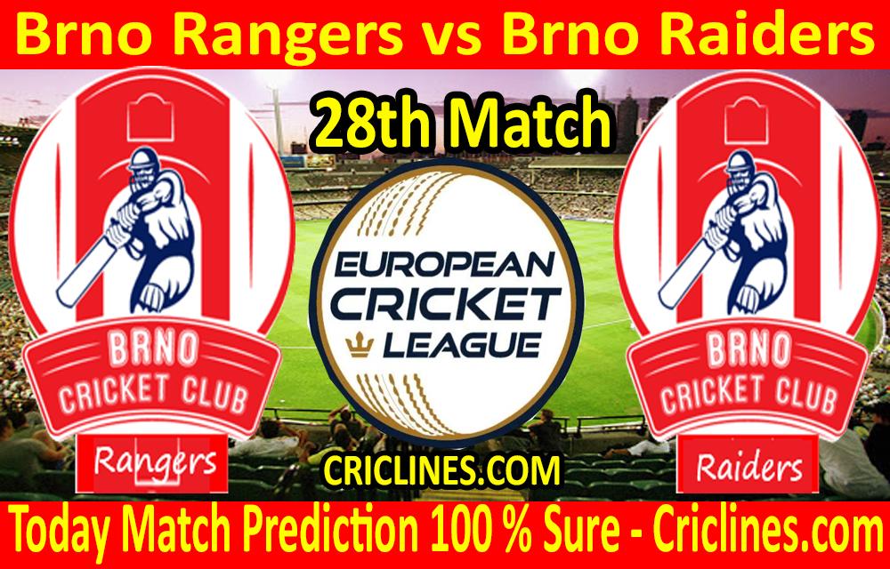 Today Match Prediction-Brno Rangers vs Brno Raiders-ECN T10 League-28th Match-Who Will Win