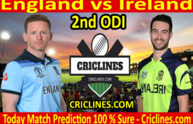 Today Match Prediction-England vs Ireland-2nd ODI 2020-Who Will Win