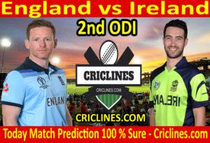 Today Match Prediction-England vs Ireland-2nd ODI 2020-Who Will Win