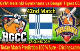 Today Match Prediction-GYM Helsinki Gymkhana vs Bengal Tigers CC-FPL T20 League-42nd-Who Will Win