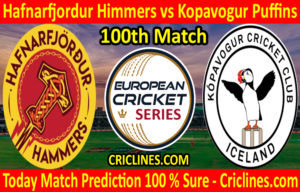 Today Match Prediction-Hafnarfjordur Himmers vs Kopavogur Puffins-ECS T10 Iceland Series-100th Match-Who Will Win