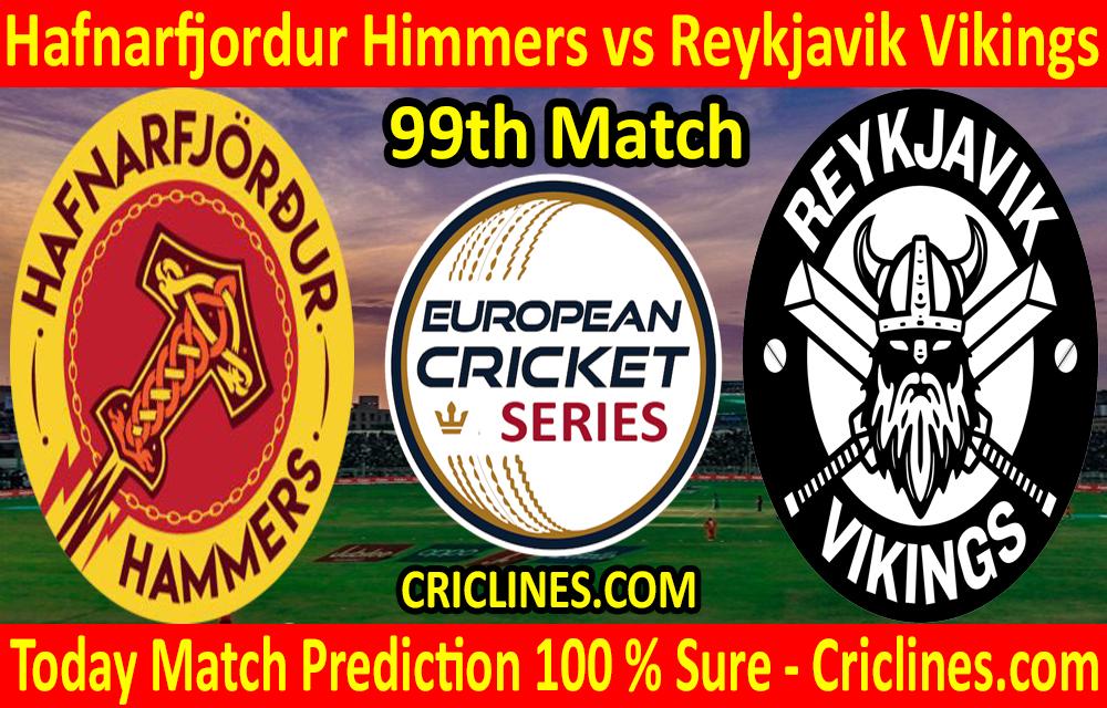 Today Match Prediction-Hafnarfjordur Himmers vs Reykjavik Vikings-ECS T10 Iceland Series-99th Match-Who Will Win