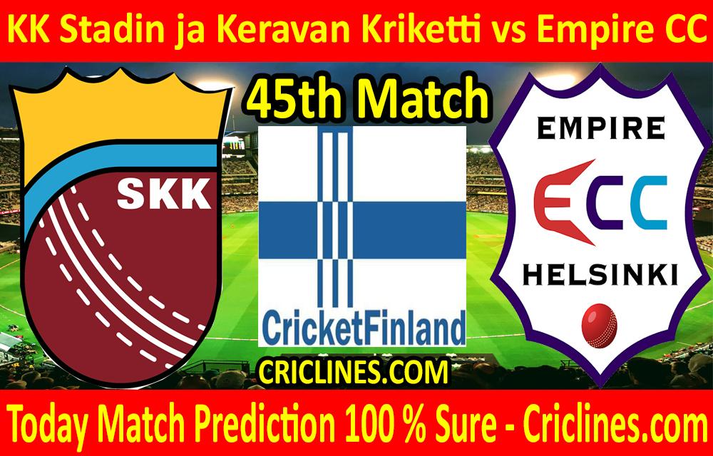 Today Match Prediction-KK Stadin ja Keravan Kriketti vs Empire CC-FPL T20 League-45th-Who Will Win
