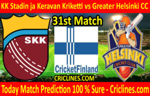 Today Match Prediction-KK Stadin ja Keravan Kriketti vs Greater Helsinki CC-FPL T20 League-31st Match-Who Will Win