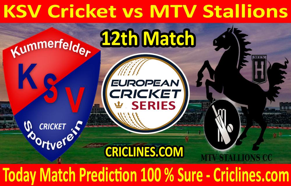 Today Match Prediction-KSV Cricket vs MTV Stallions-ECS T10 Kummerfeld Series-12th Match-Who Will Win