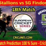 Today Match Prediction-MTV Stallions vs SG Findorff E.V-ECS T10 Kummerfeld Series-18th Match-Who Will Win