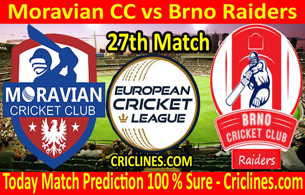 Today Match Prediction-Moravian CC vs Brno Raiders-ECN T10 League-27th Match-Who Will Win