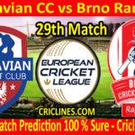 Today Match Prediction-Moravian CC vs Brno Rangers-ECN T10 League-29th Match-Who Will Win