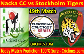 Today Match Prediction-Nacka CC vs Stockholm Tigers-ECS T10 Kummerfeld Series-19th Match-Who Will Win