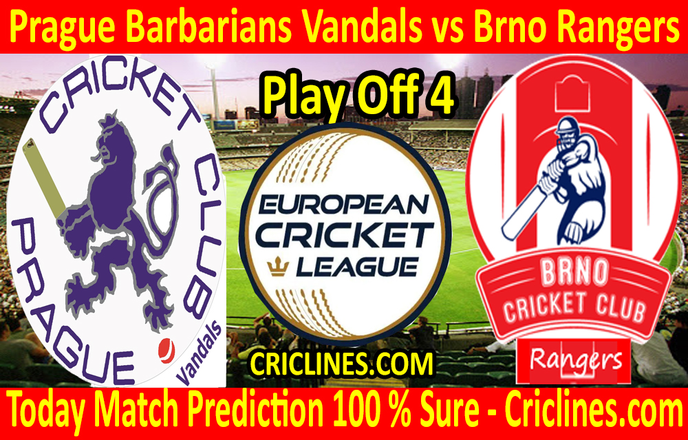 Today Match Prediction-Prague Barbarians Vandals vs Brno Rangers-ECN T10 League-Play-Off 4-Who Will Win