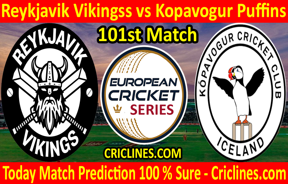Today Match Prediction-Reykjavik Vikingss vs Kopavogur Puffins-ECS T10 Iceland Series-101st Match-Who Will Win