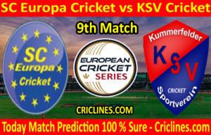 Today Match Prediction-SC Europa Cricket vs KSV Cricket-ECS T10 St. Gallen-9th Match-Who Will Win