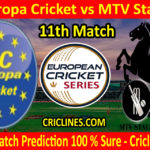 Today Match Prediction-SC Europa Cricket vs MTV Stallions-ECS T10 Kummerfeld Series-11th Match-Who Will Win