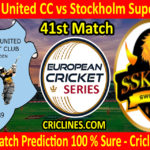 Today Match Prediction-Spanga United CC vs Stockholm Super Kings-ECS T10 Botkyrka Series-41st Match-Who Will Win