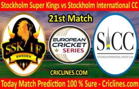 Today Match Prediction-Stockholm Super Kings vs Stockholm International CC-ECS T10 Kummerfeld Series-21st Match-Who Will Win