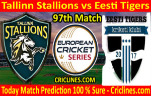 Today Match Prediction-Tallinn Stallions vs Eesti Tigers-ECS T10 Tallinn Series-97th Match-Who Will Win