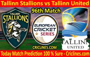 Today Match Prediction-Tallinn Stallions vs Tallinn United-ECS T10 Tallinn Series-96th Match-Who Will Win
