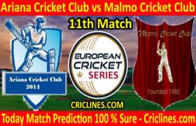 Today Match Prediction-Ariana Cricket Club vs Malmo Cricket Club-ECS T10 Series-11th Match-Who Will Win