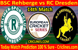 Today Match Prediction-BSC Rehberge vs RC Dresden-ECS T10 Dresden Series-14th Match-Who Will Win