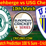 Today Match Prediction-BSC Rehberge vs USG Chemnitz-ECS T10 Dresden Series-10th Match-Who Will Win