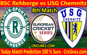 Today Match Prediction-BSC Rehberge vs USG Chemnitz-ECS T10 Dresden Series-8th Match-Who Will Win