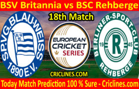Today Match Prediction-BSV Britannia vs BSC Rehberge-ECS T10 Dresden Series-18th Match-Who Will Win