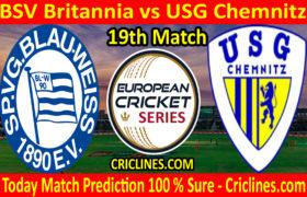 Today Match Prediction-BSV Britannia vs USG Chemnitz-ECS T10 Dresden Series-19th Match-Who Will Win