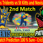 Today Match Prediction-Barbados Tridents vs St Kitts and Nevis Patriots-CPL 2020-2nd Match-Who Will Win