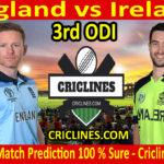 Today Match Prediction-England vs Ireland-3rd ODI 2020-Who Will Win