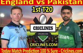 Today Match Prediction-England vs Pakistan-1st T20 2020-Who Will Win
