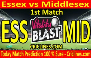 Today Match Prediction-Essex vs Middlesex-Vitality T20 Blast 2020-1st Match-Who Will Win
