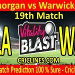 Today Match Prediction-Glamorgan vs Warwickshire-Vitality T20 Blast 2020-19th Match-Who Will Win