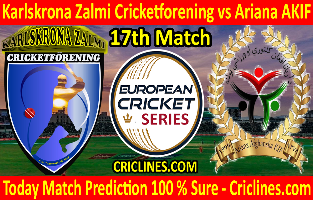 Today Match Prediction-Karlskrona Zalmi Cricketforening vs Ariana AKIF-ECS T10 Series-17th Match-Who Will Win