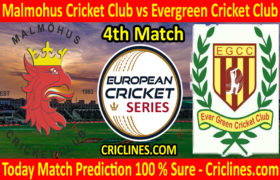 Today Match Prediction-Malmohus Cricket Club vs Evergreen Cricket Club-ECS T10 Series-4th Match-Who Will Win