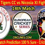 Today Match Prediction-Nicosia Tigers CC vs Nicosia XI Fighters CC-ECS T10 Cyprus Series-14th Match-Who Will Win