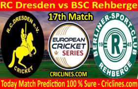 Today Match Prediction-RC Dresden vs BSC Rehberge-ECS T10 Dresden Series-17th Match-Who Will Win