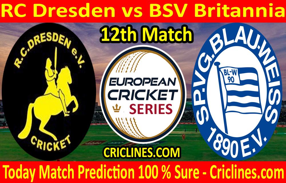 Today Match Prediction-RC Dresden vs BSV Britannia-ECS T10 Dresden Series-12th Match-Who Will Win