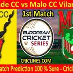 Today Match Prediction-Alvalade CC vs Malo CC Vilamoura-ECS T10 Cartaxo Series-1st Match-Who Will Win