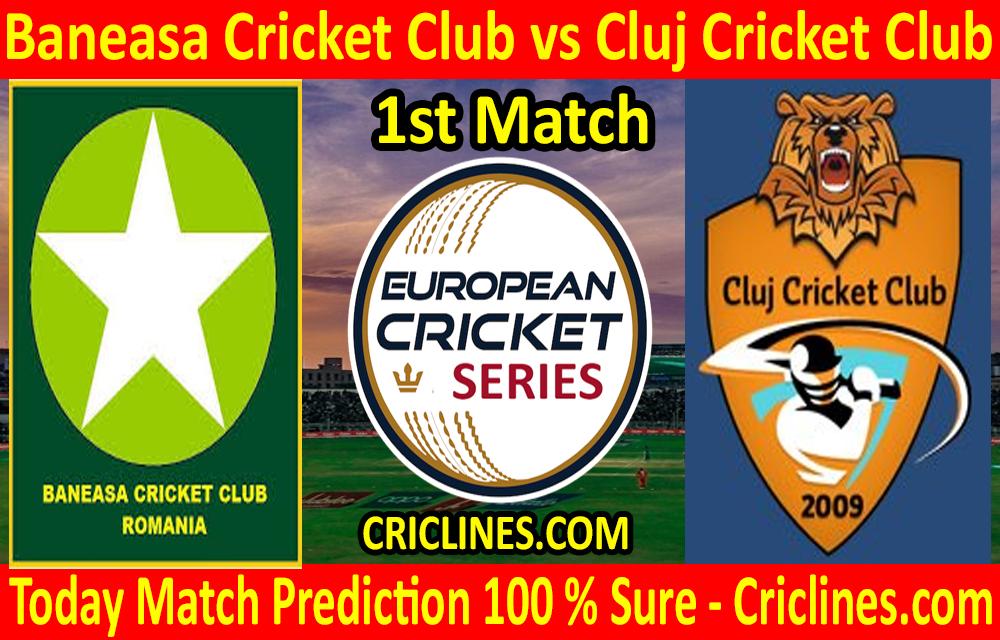 Today Match Prediction-Baneasa Cricket Club vs Cluj Cricket Club-ECS T10 Romania Series-1st Match-Who Will Win