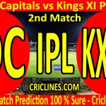Today Match Prediction-Delhi Capitals vs Kings XI Punjab-IPL T20 2020-2nd Match-Who Will Win