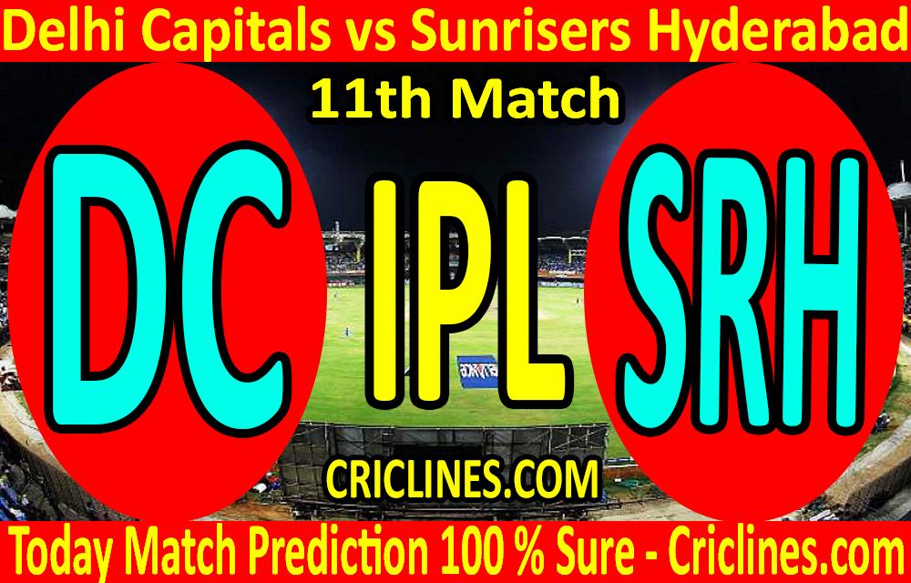 Today Match Prediction-Delhi Capitals vs Sunrisers Hyderabad-IPL T20 2020-11th Match-Who Will Win