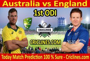 Today Match Prediction-England vs Australia-1st ODI 2020-Who Will Win