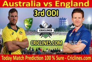 Today Match Prediction-England vs Australia-3rd ODI 2020-Who Will Win