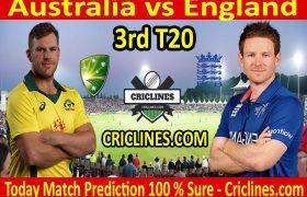 Today Match Prediction-England vs Australia-3rd T20 2020-Who Will Win