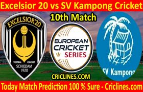 Today Match Prediction-Excelsior 20 vs SV Kampong Cricket-ECS T10 Capelle Series-10th Match-Who Will Win