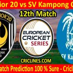 Today Match Prediction-Excelsior 20 vs SV Kampong Cricket-ECS T10 Capelle Series-12th Match-Who Will Win